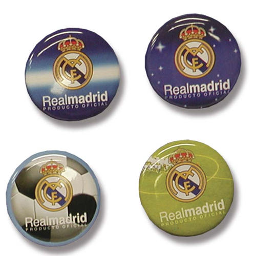 Real Madrid Kylskåpsmagnet 4-pack
